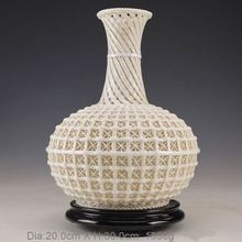 Oriental Vintage chinese Dehua Porcelain Handwork Rare Big Vase NR
