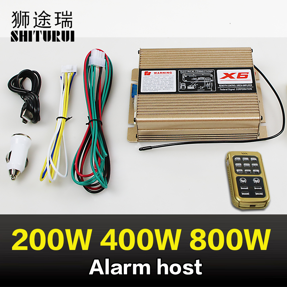 200W400W800W alarm host wireless remote control speaker high and low sound 18 sound ambulance p0lice car fire truck sound