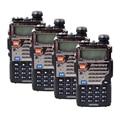 BAOFENG Dual Band 4 PC Amateur Rádio Em Dois Sentidos UV-5RE UHF/VHF128 Canais FM Ham walkie talkie Transceptor uv5re