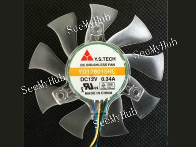 For Y.S.TECH 8015 graphics card fan hole distance 39mm YD128015HL four-wire thermostat