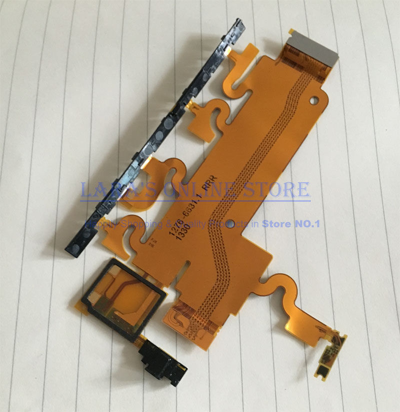 JEDX Original Power Volume Button Flex Cable with Microphone Mic Motherboard Main Ribbon for Sony Xperia Z1 L39H C6903