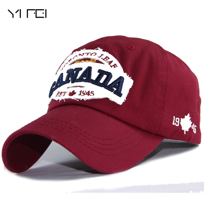 YIFEI Men Snapback   Caps   Casquette Hat For Women Hip Hop Canada Letters Embroidered   Cap   Patch Dad Hat 100% Cotton   Baseball     Cap