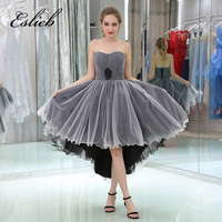 Free Shipping Custom Made High Low Cocktail Dresses 2017 Sweetheart Sleeveles Lace Up Back Pleat Cocktail