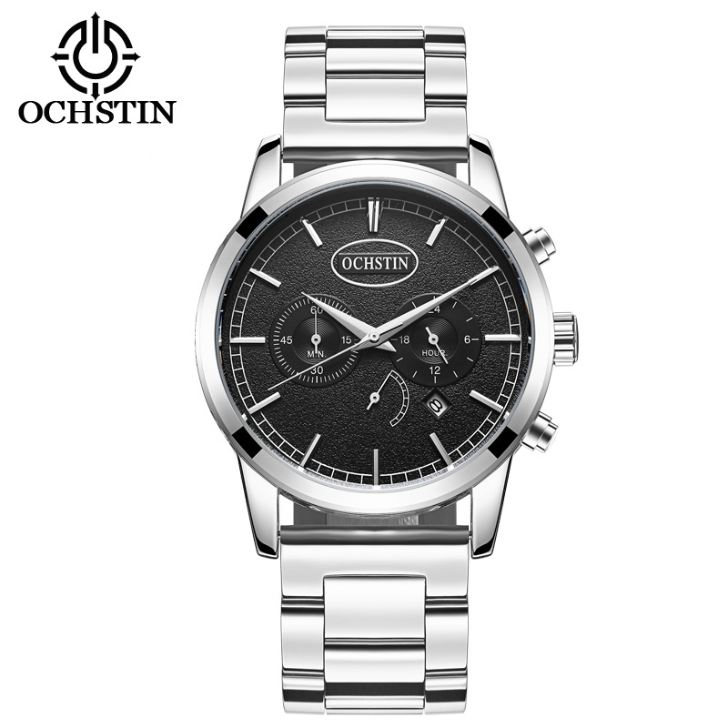 2017 Luxury Brand OCHSTIN Men Sport Watches Men's Quartz Clock Man Army Military Stainless Steel Wrist Watch Relogio Masculino weide casual genuine watch luxury brand quartz sport watches stainless steel analog men larm clock relogio masculino schocker