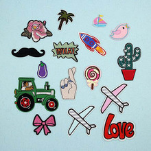1PC Fabric Embroidered Cartoon Patches For Clothes Stickers Bag Sew Iron On Applique DIY Apparel Sewing Clothing Accessories BU5