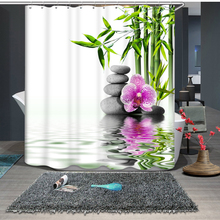 Traditional Green Bamboo Pattern New 3d Shower Curtains Bathroom Curtain Waterproof Thickened Bath Customizable
