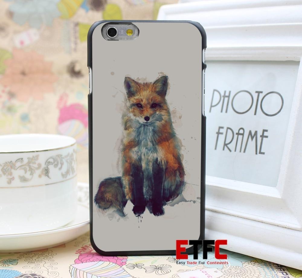 Fox Design for iPhone 6 6 Plus Hard Black Skin Case Cover