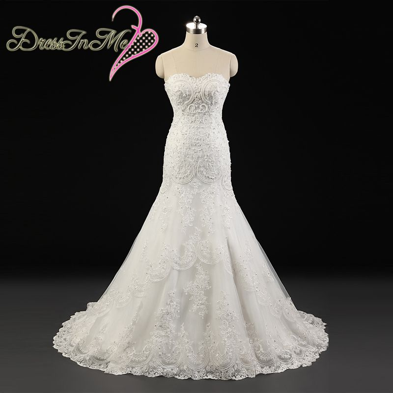 Beaded sweetheart neckline corded lace appliqued fit and for Fit and flare wedding dress with sweetheart neckline