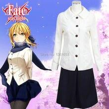 Fate / Stay night zero Saber cosplay para mujeres trajes el rey el más nuevo cos Hollaween vestidos fiesta