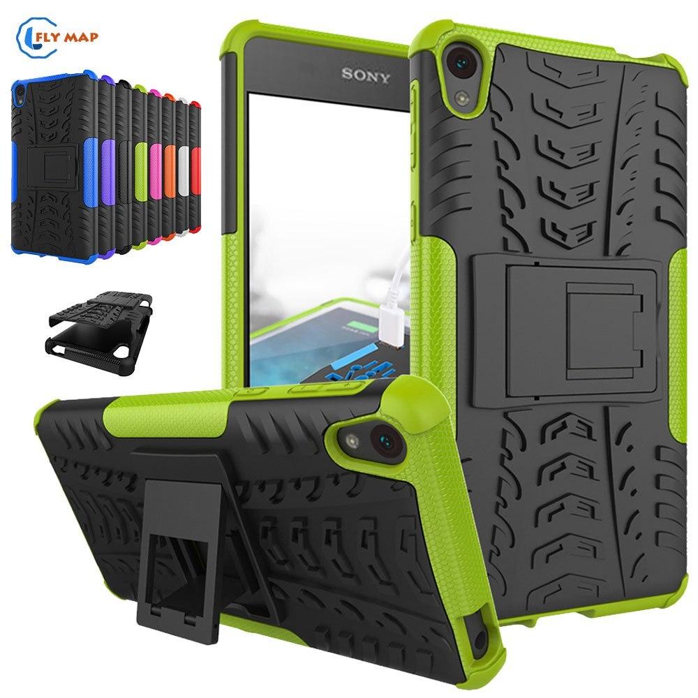 Coque For Sony Xperia E5 sony E5 LTE Plastic Silicone Bracket Phone Case For Sony Xperia E 5 F3311 F 3311 F-3311 Protector Cover