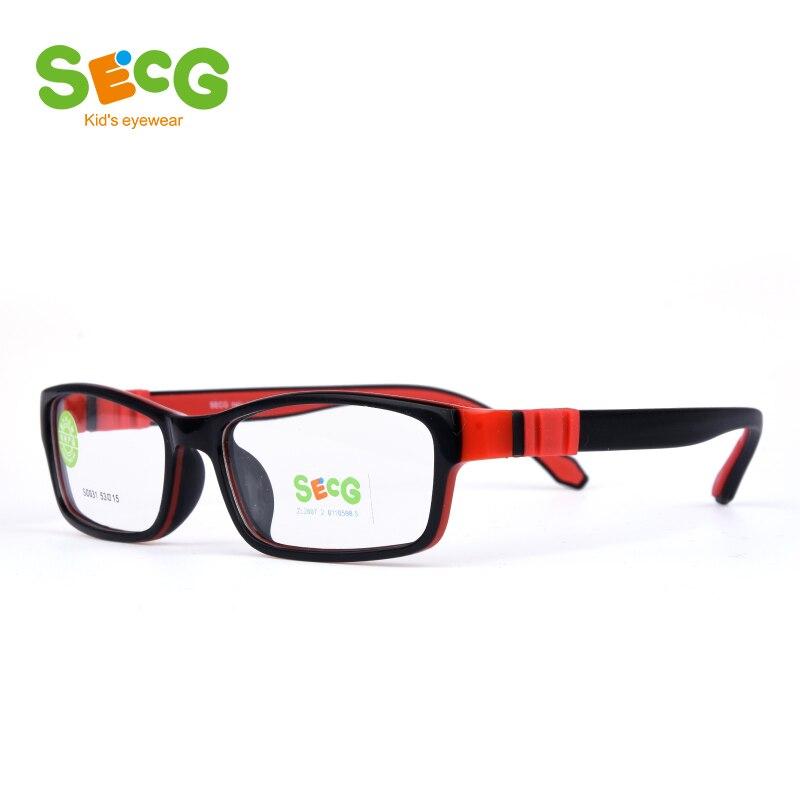 SECG Square Detachable Optiacal Kids Frame Spectacle Childrne Frames Myopia Hyperopia Oculos Prescription Glasses No Screw