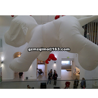 giant inflatable pink dog for display lovely blow up promotional dog decoration animal cartoon balloon toys