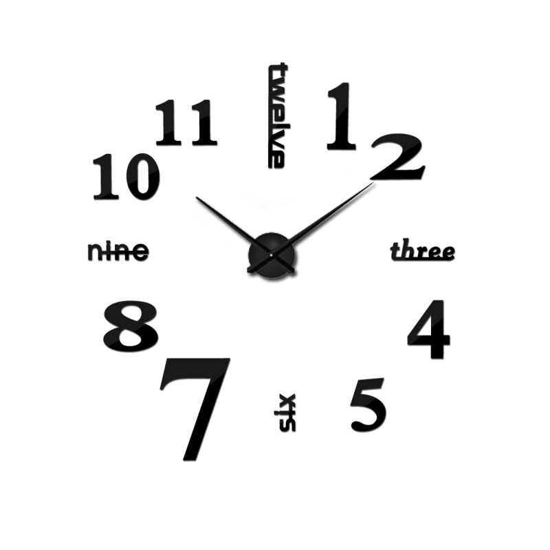 2019 Arabic Numerals Wall Clock Creative Modern Black Big