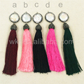WT-TS024 100mm Silk Tassel Pearl Wholesale Soft Silk Mixed Colors with pearl pave Charm earrings Tassel for Jewelry DIY Making
