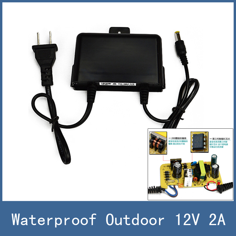 New Waterproof Outdoor 5.5*2.1mm DC 12V 2A Power Supply Adapter for CCTV Monitor Camera or PTZ Bracket , AC 100-240V цены онлайн