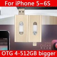 Chaude Métal Pendrive 16 GB 32 GB 64 GB Foudre Stylo Pilote Otg Usb Flash Drive 128 GB 512 GB 1 TB 2 TB Pour iphone 5/5s/5c/6 s/6 Plus/Ipad