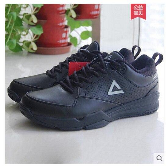 Peak/formation série hommes chaussures de formation sponsorisé basket-ball arbitre chaussures de formation complètes authentique vente en gros