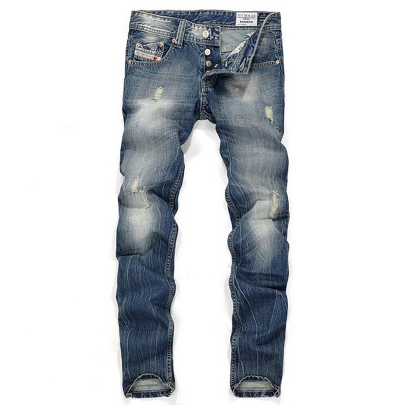 New 2017 Casual Biker Hole Jeans Men Brand luxury Straight Denim Jeans Hip Hop Trousers Designer Fashion Decoration Slim Pants 2017 fashion patch jeans men slim straight denim jeans ripped trousers new famous brand biker jeans logo mens zipper jeans 604