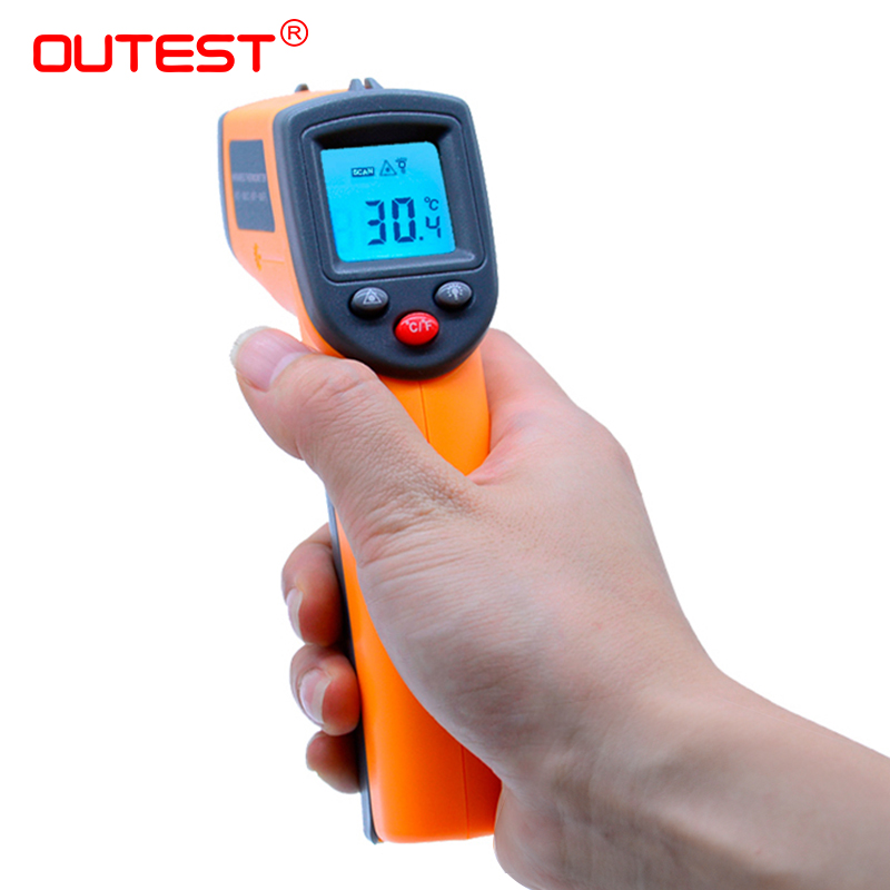 New arrival Digital infrared thermometer Non contact IR thermometer GS320 -50~360C (-58~680F) Laser Point Gun Themperature meter