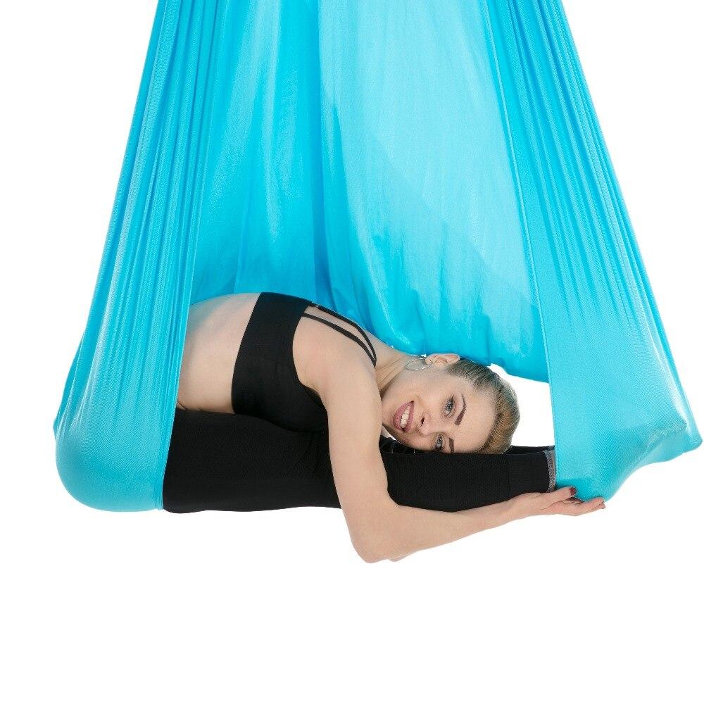 5*2.8 m GYM Fitness À Domicile Haute Résistance Nylon Yoga Aérien Hamac Anti-Gravité Swing Corps Bâtiment Pilates yoga Ceinture 16 Couleurs