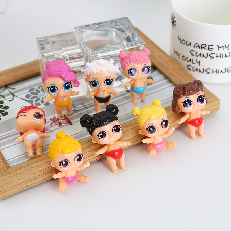 1PCS Chidren 4cm LoL Doll Unpacking Baby Tear Open Color Change Egg Mini LoL Dolls Model Action Figure Toys Kids Gift