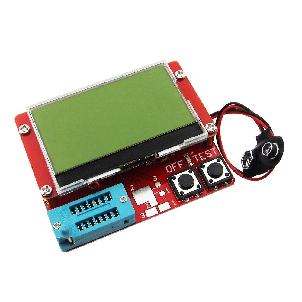 5PCS New 2015 12864 LCD Transistor Tester Capacitance ESR Meter Diode Triode MOS NPN LCR Mega328 new portable color component tester transistor diode capacitance esr meter mosfet npn mpn mos inductance english version