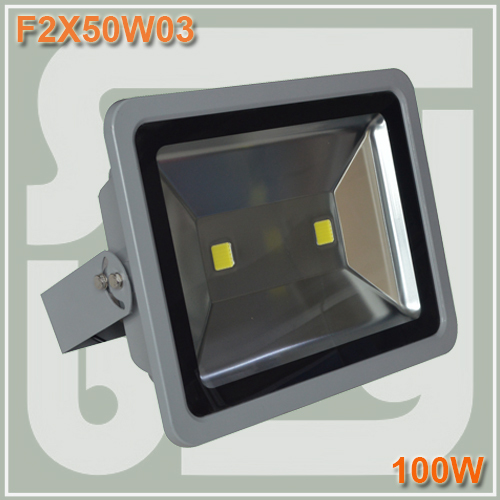 Envío Gratis impermeable IP65 100W Reflector led de alta potencia lámparas de pared para exteriores lavar 2x50w led Luz de inundación Luz de calle