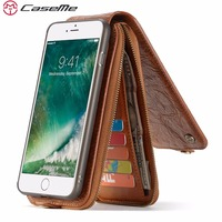 CaseMe Song Luxury Magnetic Flip Wallet Case For IPhone 6 7 Plus Case Leather Cover Capinha