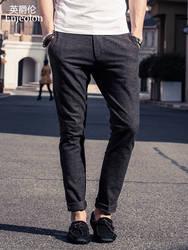 Enjeolon брендовые длинные штаны повседневные штаны мужские, высококачественная одежда прямо мужчины модная повседневная одежда K1034