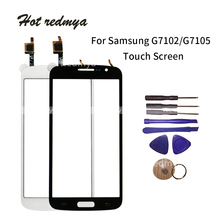 5.25 Touch Screen For Samsung Galaxy Grand 2 G7102 SM-G7102 G7105 G7106 Digitizer Front Glass Sensor Lens White Black With Tool