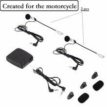 2 way Motorcycle Intercom headset Helmet to Helmet Communicator system  For Harley Davidson intercomunicadores de motos MP3 GPS