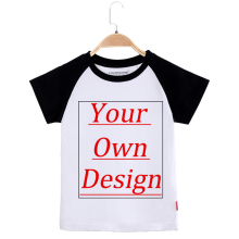 Customized Children T Shirt Your Own Designed 100% Cotton Short Sleeve Custom Design Printing Kids Tee Shirts Girl And Boy Tops