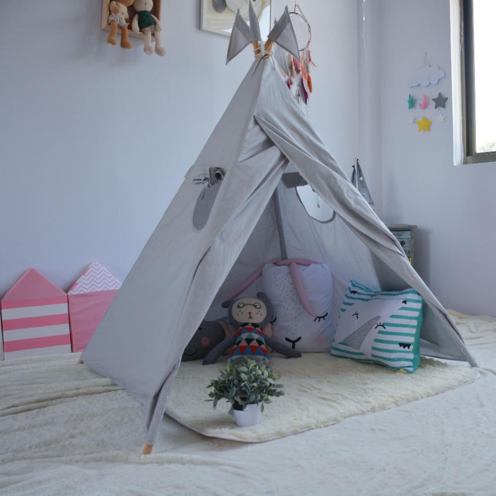 LoveTree Neue Stil Grau Spielhaus Kinder spielzeug tipi zelt Spielen ...