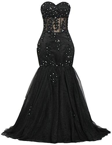 Милая бисером черная Русалка платье для выпускного вечера аппликация кружево 2019 Vestido Formatura Longo Vestidos De Formatura