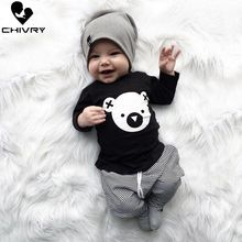 Chivry 2019 Baby Clothing Sets Newborn Infant Baby Boys Cartoon Koala Long Sleeve T Shirt Tops + Striped Pants Baby Boy Clothes autumn children clothing sets newborn infant long sleeve baby boy letters printing t shirt stripe pants kids clothes 2 pcs sui