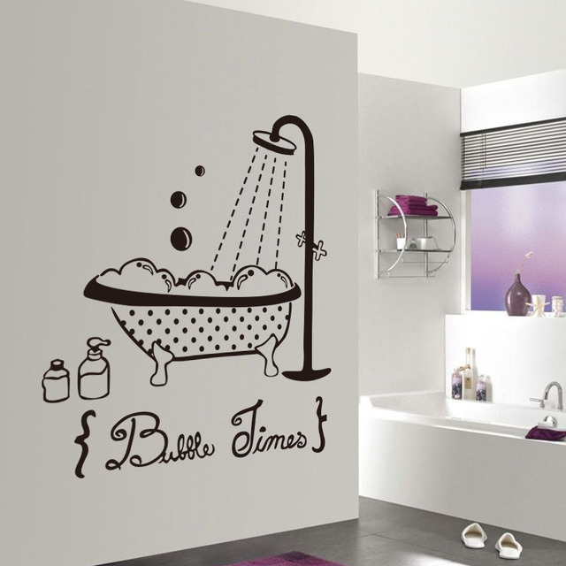 Baby Love Shower Bathtub Wall Stickers Quote For Kids Bathroom Glass