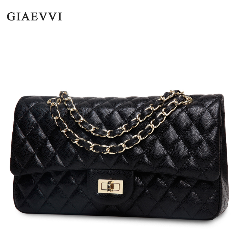 GIAEVVI 2017 New luxury Genuine Leather women Messenger bags Famous Brands women handbag clutch bags Chain small shoulder bag 2017 fashion all match retro split leather women bag top grade small shoulder bags multilayer mini chain women messenger bags