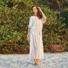 b2465c5a00 Beachwear Women Saida De Praia Feminino Plus Size Cover Up Sundress Swim  Ladies Ups Swimsuit Dress