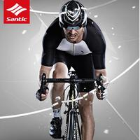 Santic Майки спортивные Наборы для ухода за кожей Для мужчин Pro Триатлон шт extreme Race Fit blees эластичные сухом прохладном итальянский Ткань Одежда д