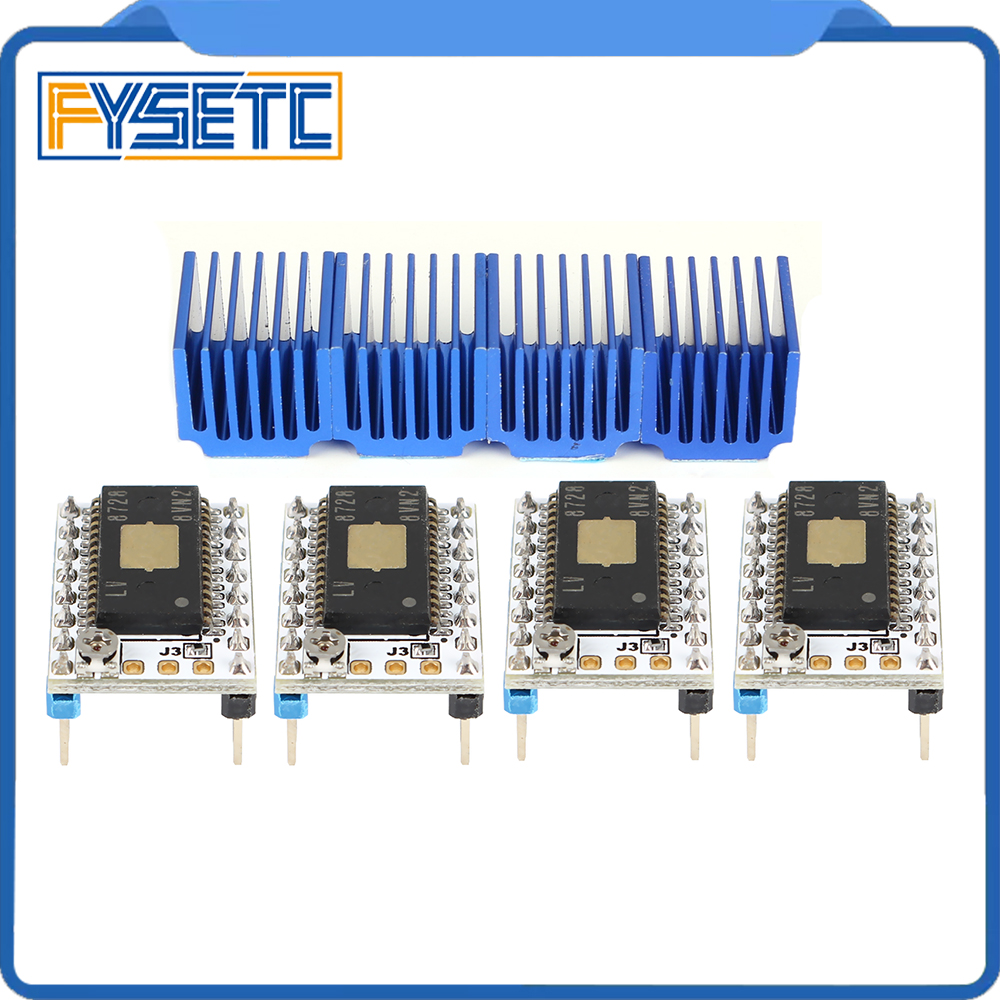 4pcs Stepstick Stepper Motor Driver LV8728 AS S6128 Driver Up To 2.2A Peak Drive Current Replace SD8825 A4988 A4983 LV8729
