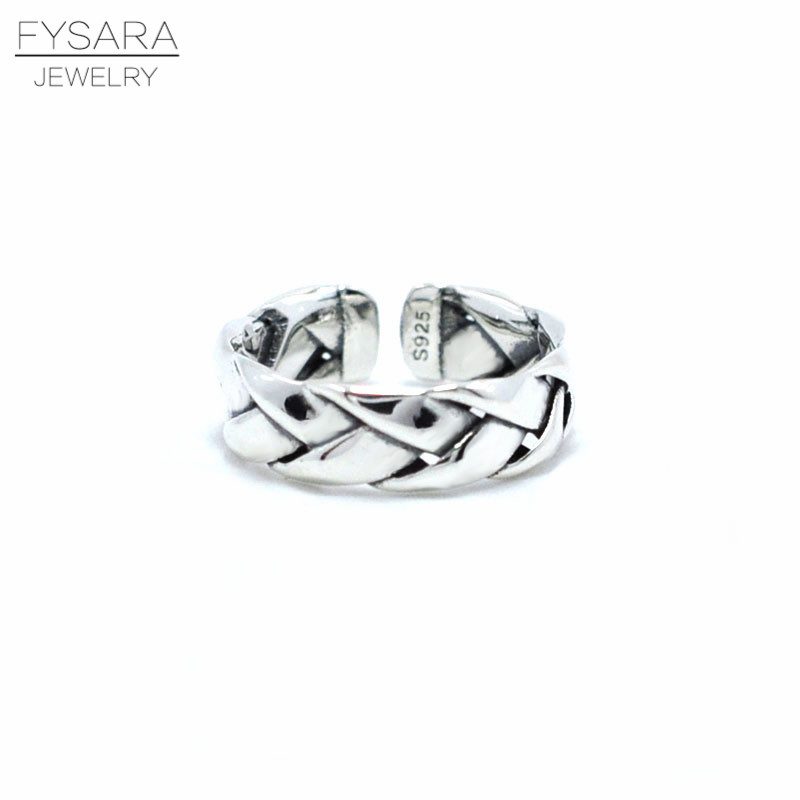 Vintage 925 Sterling Silver Rings Weave Shaped Round Cut White Gold-Color Pave Rings Marca Jewelry Hot Anillos Women Ring