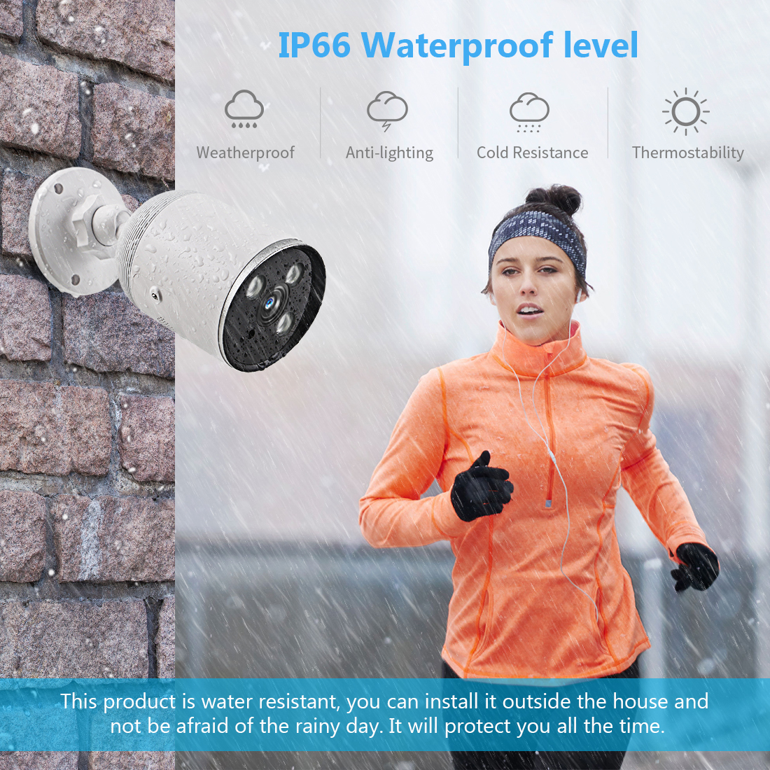 1080P IP66 Waterproof Outdoor Bullet Camera - YCC365 7