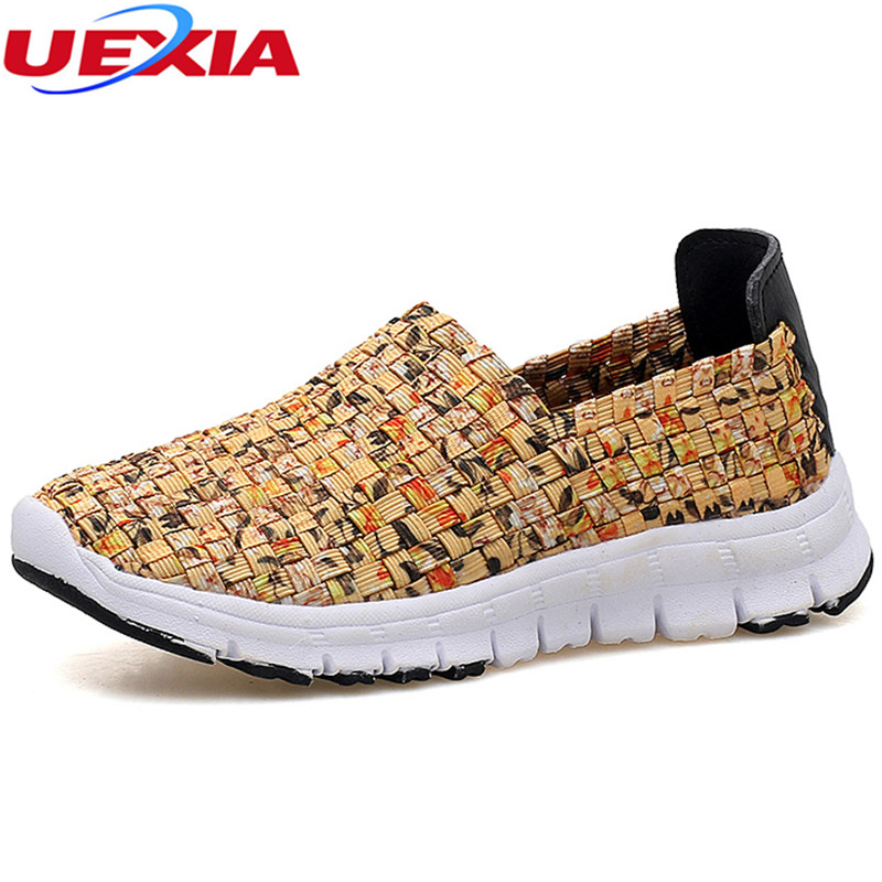 UEXIA Casual Summer Breathable Handmade Woven Shoes Women Fashion Comfortable Lightweight Wovening Comfortable Sport Women Shoes women casual shoes 2018 summer cool breathable handmade female woven footwear fashion comfortable lightweight wovening sneakers