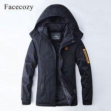 Facecozy 2018 Men&Women Winter Thicken Waterproof Hiking Softshell Jacket Warm Fleece Windproof Jackets Camping Hunt Skiing Coat