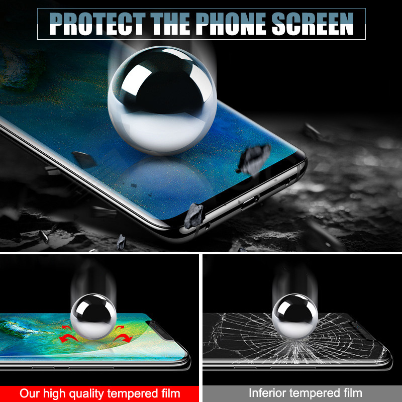 Image 3 - 9D Protective Glass on the For Huawei Mate 20 10 Pro 20X 9 Lite Screen Protector For Huawei P Smart Tempered Glass Film Case-in Phone Screen Protectors from Cellphones & Telecommunications