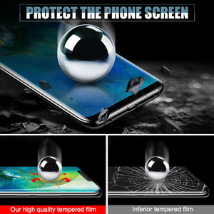 Image 3 - 9D Protective Glass on the For Huawei Mate 20 10 Pro 20X 9 Lite Screen Protector For Huawei P Smart Tempered Glass Film Case