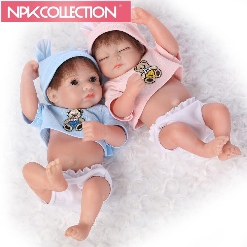 4 STYLES 2018 NEW Hot Sale Minidoll Lifelike Reborn Baby Soft Real Touch Baby Dolls Fashion Birthday Gift Cute sweet Baby