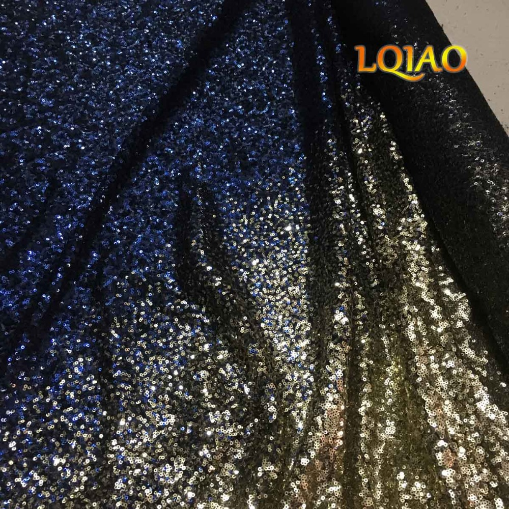 Buy Rose Gold sequins fabric with tassel Embroidered Mesh Lace ...