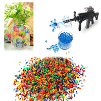 10000pcs Packet Colored Orbeez Soft Crystal Water Paintball Gun Bullet Grow Water Beads Grow Balls Water