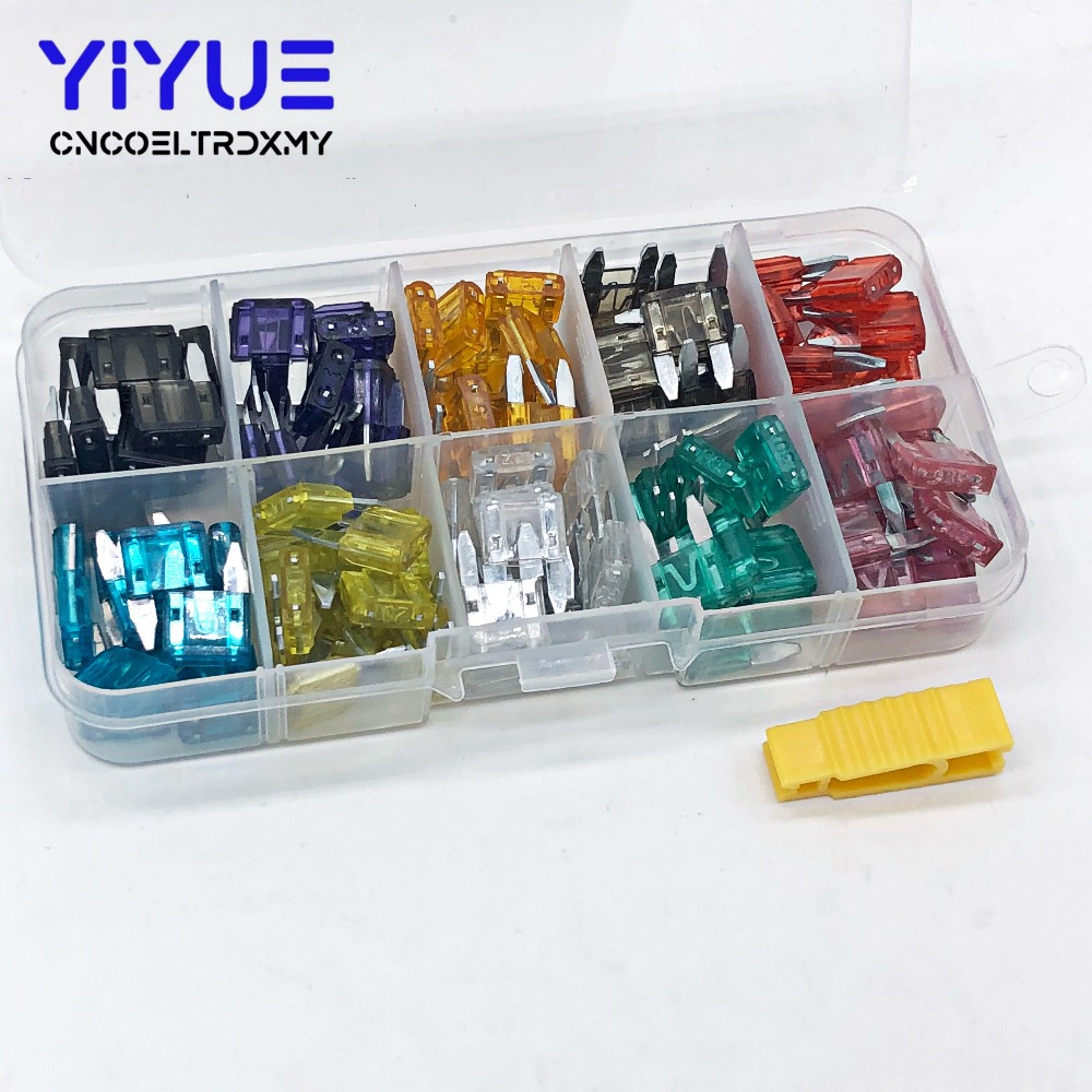 hight resolution of small plastic fuse box wiring library 2006 corolla fuse box location 120pcs high quality car fuse